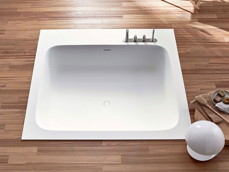 Modello di vasca da bagno quadrata da incasso n.04