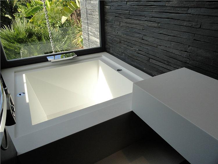 Modello di vasca da bagno quadrata da incasso n.05
