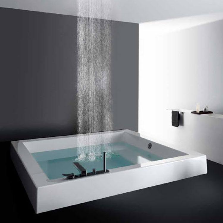Modello di vasca da bagno quadrata da incasso n.07