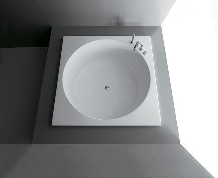 Modello di vasca da bagno quadrata da incasso n.09
