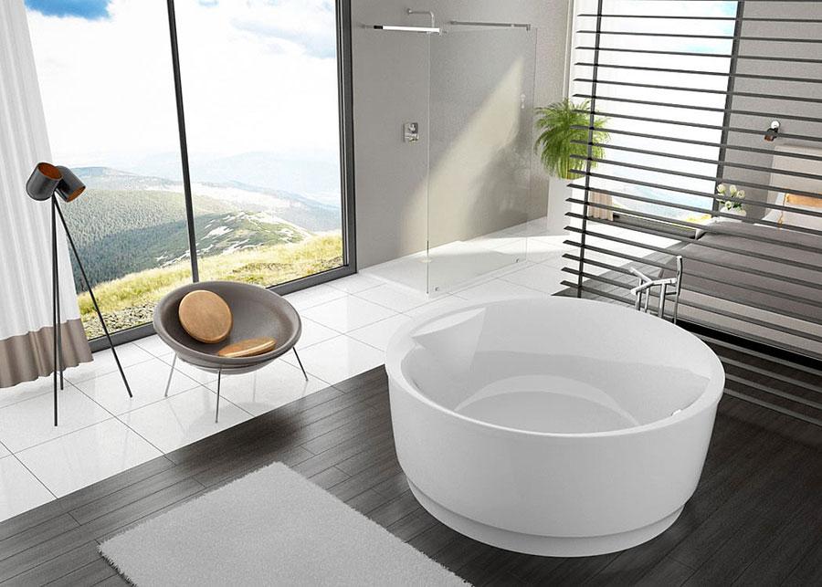 Modello di vasca da bagno rotonda n.08
