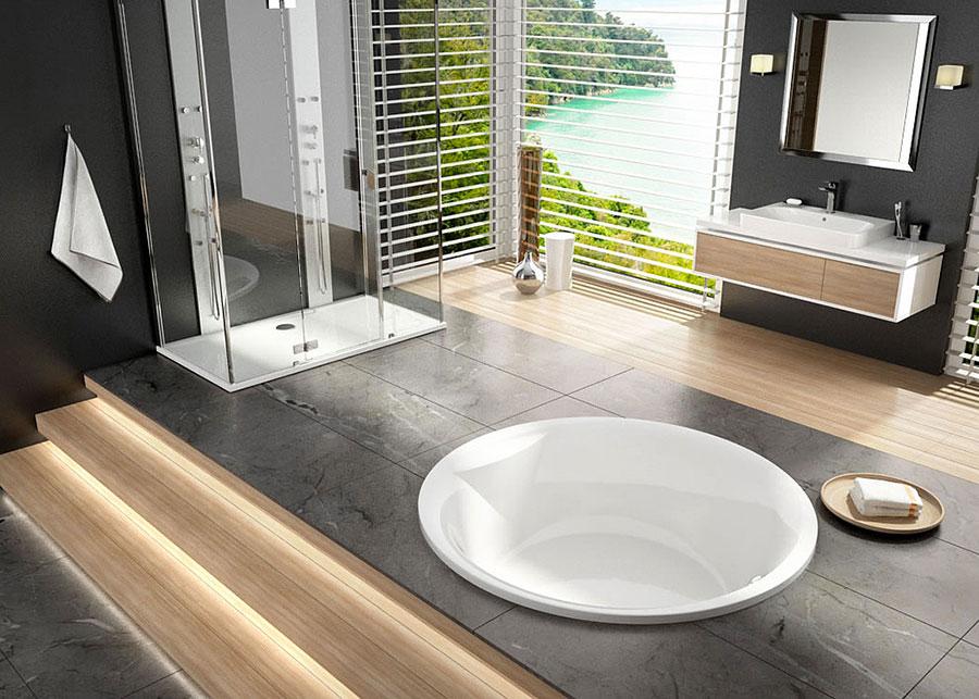 Modello di vasca da bagno rotonda n.09