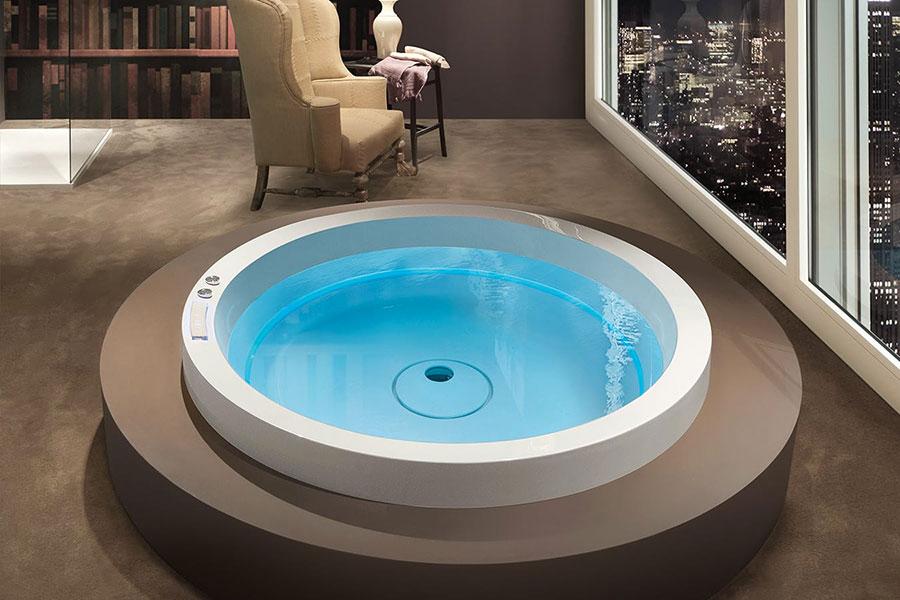 Modello di vasca da bagno rotonda n.12