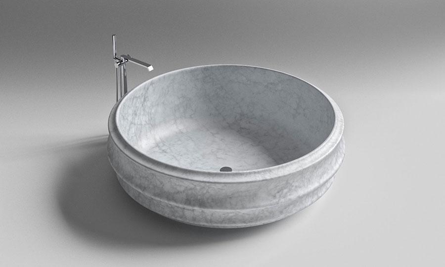Modello di vasca da bagno rotonda n.15