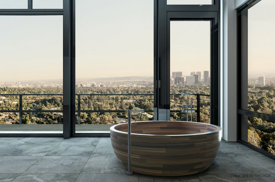 Modello di vasca da bagno rotonda n.18