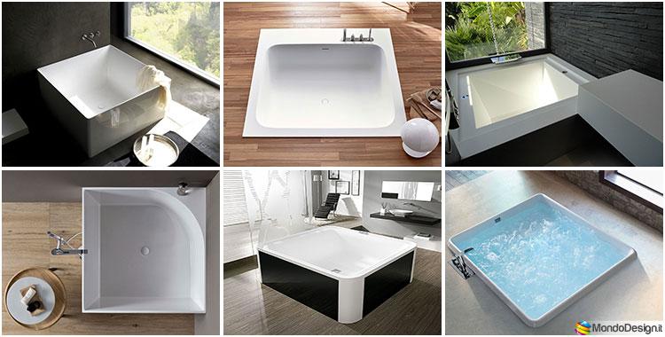 Vasca Da Bagno Piccola Da Appoggio : Vasca da bagno quadrata: 20 modelli da appoggio e da incasso