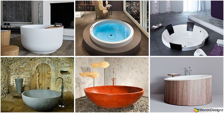 Vasche Da Bagno Rotonde Prezzi : Anima design vasca minimal 187x98 cm vasche da bagno rotonde