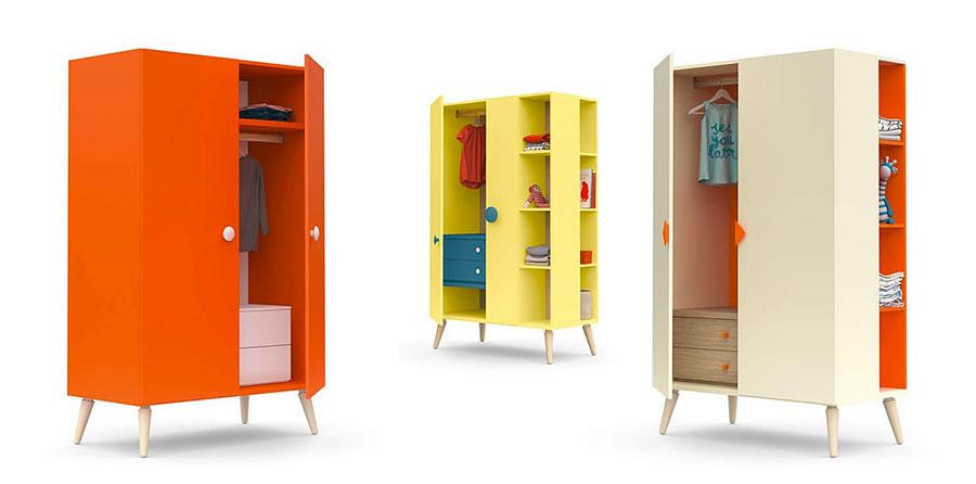 Modello di armadio per la cameretta dei bambini n.16