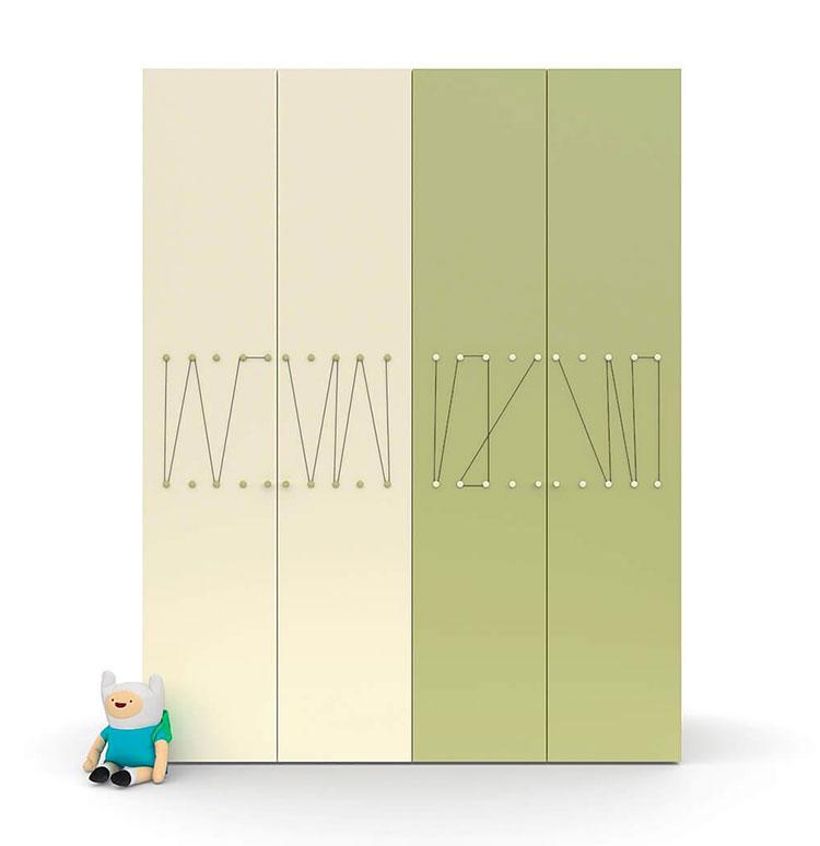 Modello di armadio per la cameretta dei bambini n.17