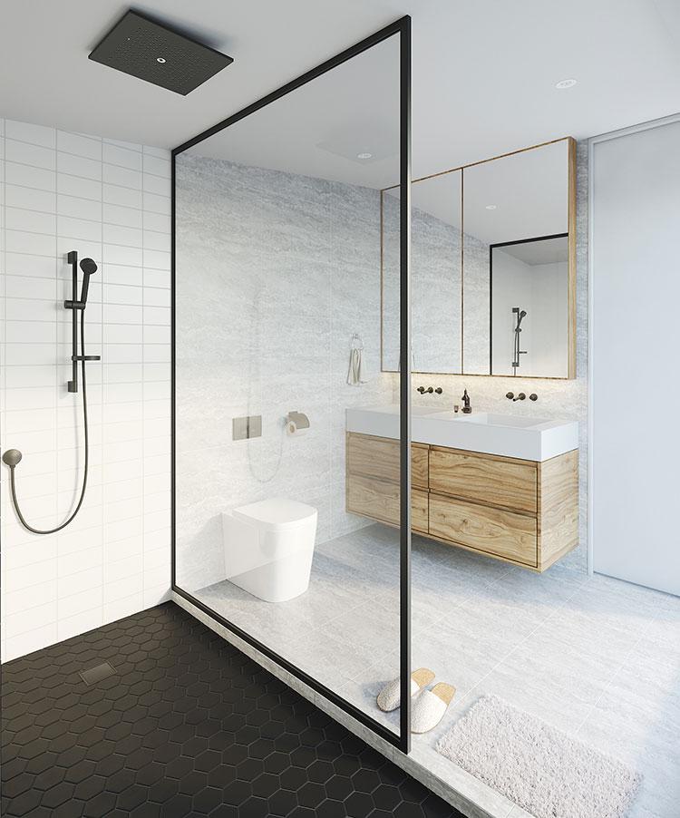 Progetto per bagno piccolo con doccia n.01