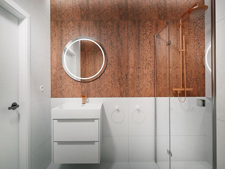 Progetto per bagno piccolo con doccia n.03