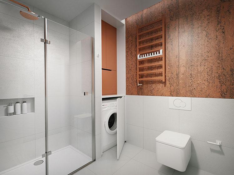 Progetto per bagno piccolo con doccia n.04