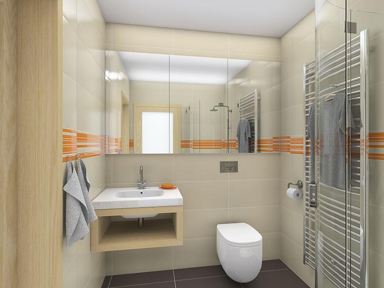 Progetto per bagno piccolo con doccia n.05