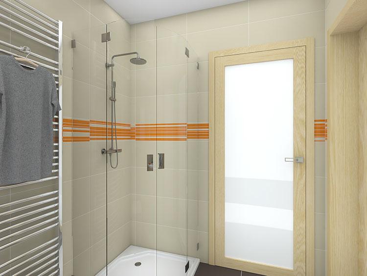 Progetto per bagno piccolo con doccia n.06