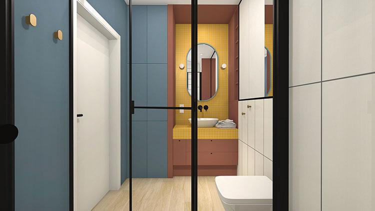 Progetto per bagno piccolo con doccia n.11