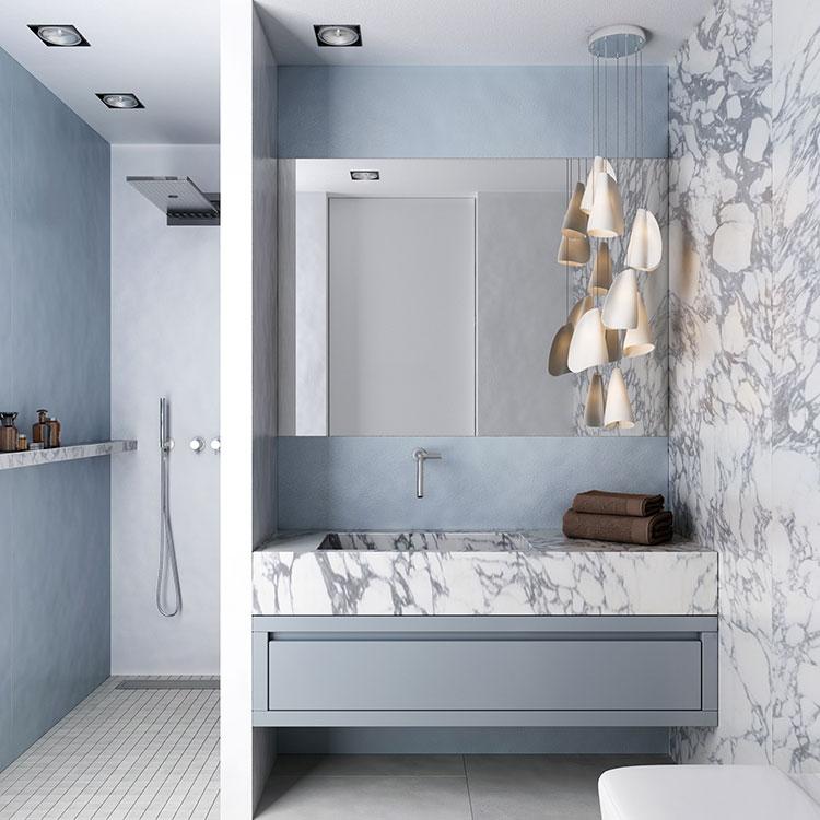 Progetto per bagno piccolo con doccia n.13