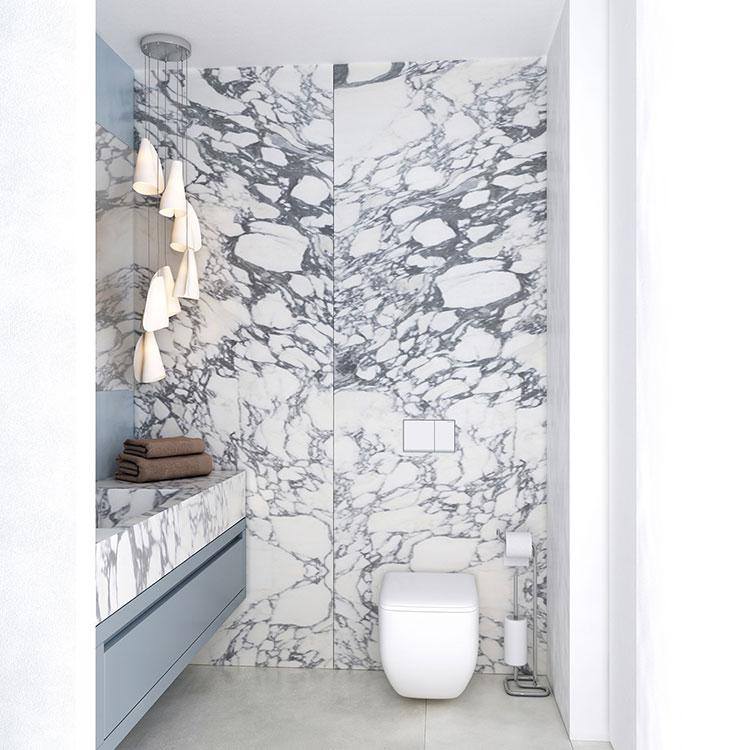 Progetto per bagno piccolo con doccia n.14