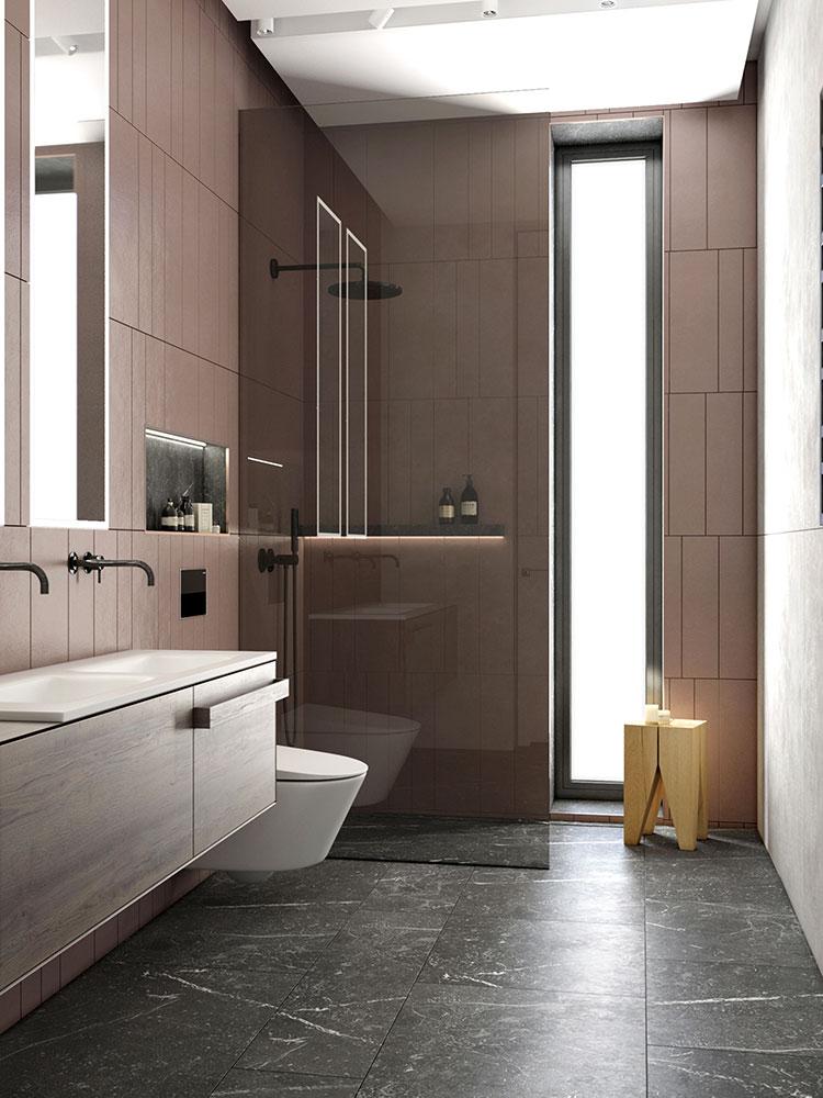 Progetto per bagno piccolo con doccia n.16