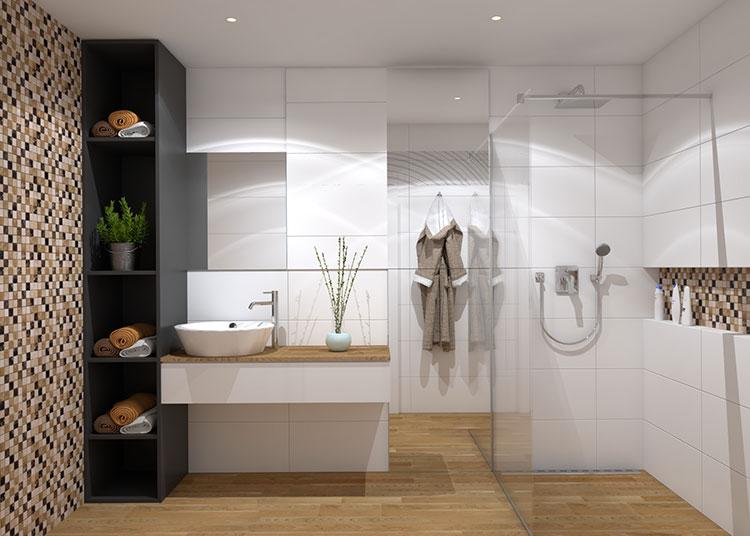 Progetto per bagno piccolo con doccia n.17