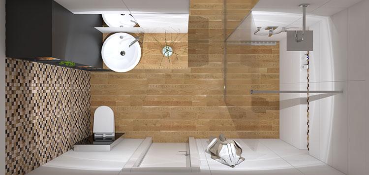 Progetto per bagno piccolo con doccia n.18