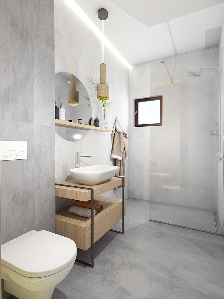 Progetto per bagno piccolo con doccia n.20