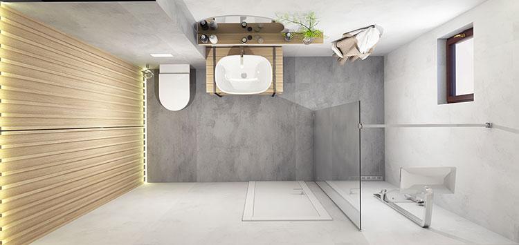 Progetto per bagno piccolo con doccia n.21