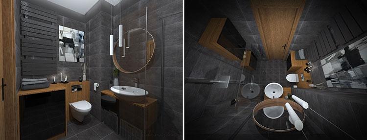 Progetto per bagno piccolo con doccia n.22