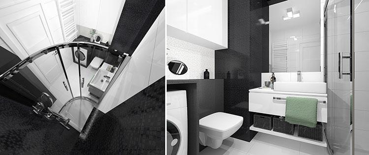 Progetto per bagno piccolo con doccia n.23
