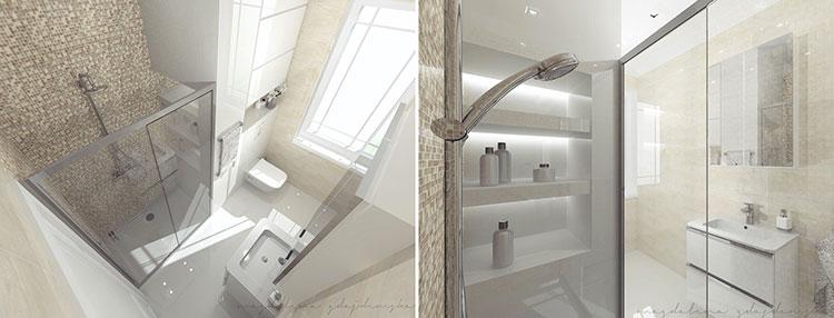 Progetto per bagno piccolo con doccia n.24