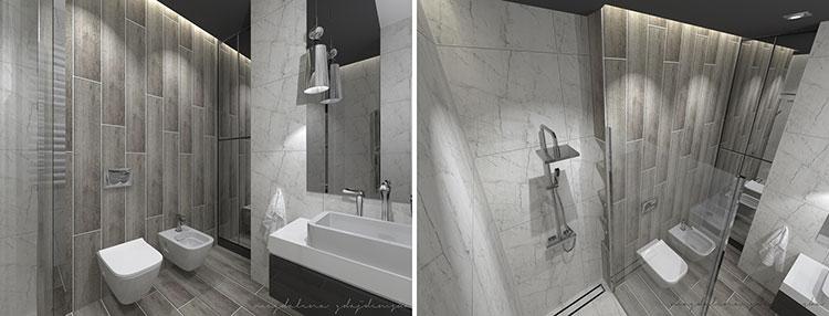 Progetto per bagno piccolo con doccia n.25