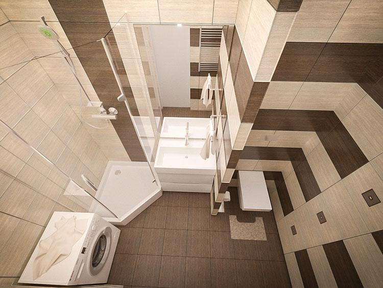 Progetto per bagno piccolo con doccia n.26