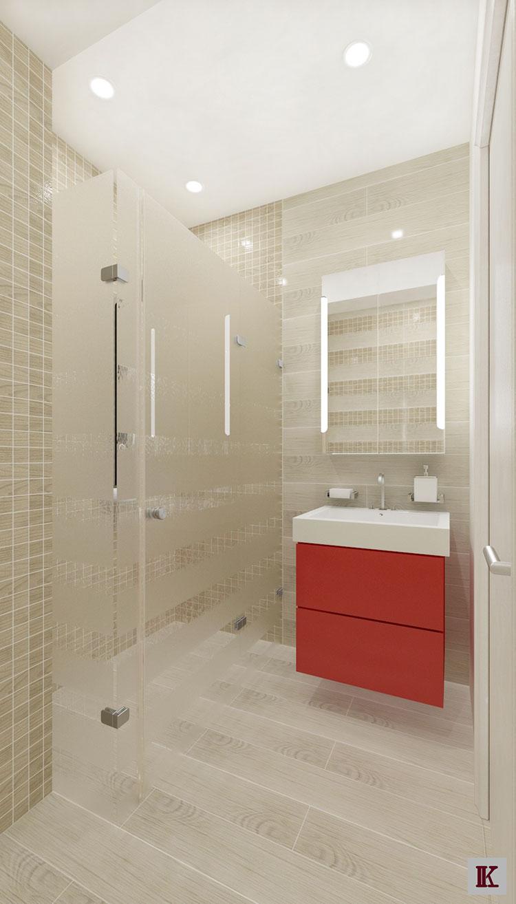 Progetto per bagno piccolo con doccia n.27