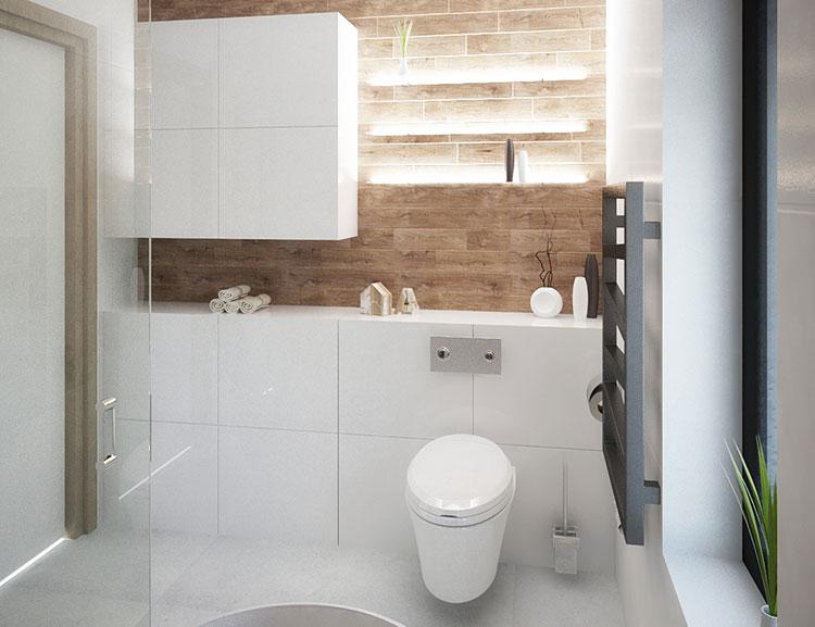 Progetto per bagno piccolo con doccia n.30