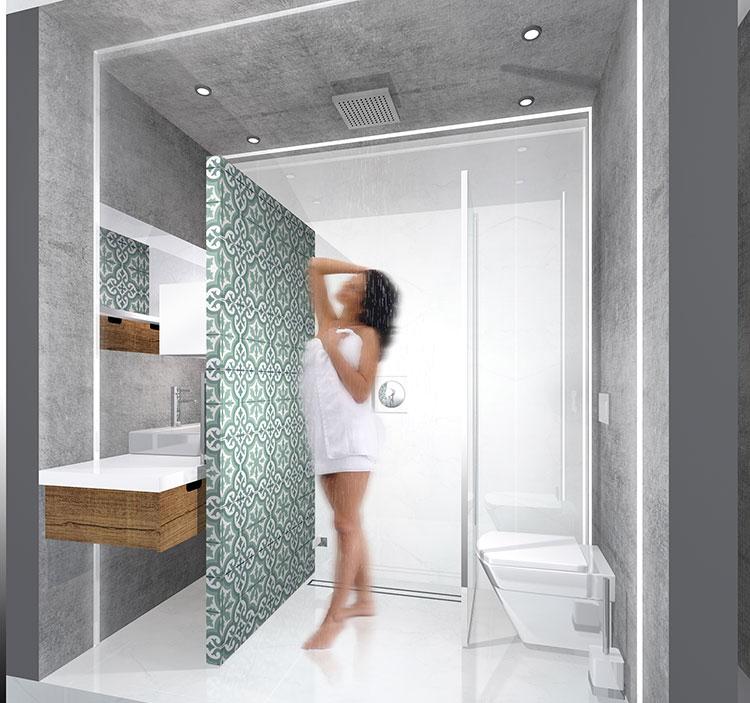 Progetto per bagno piccolo con doccia n.32