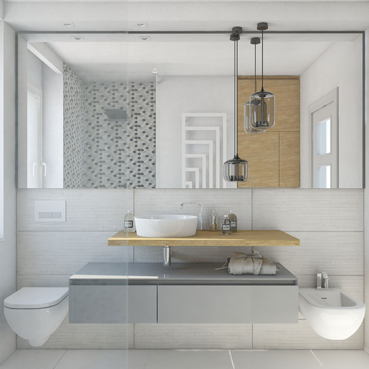 Progetto per bagno piccolo con doccia n.33