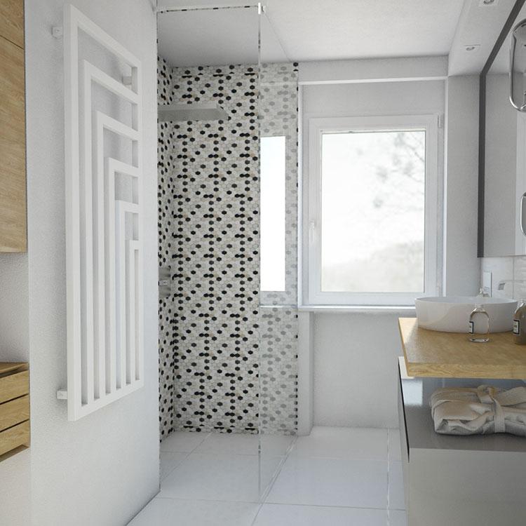 Progetto per bagno piccolo con doccia n.34