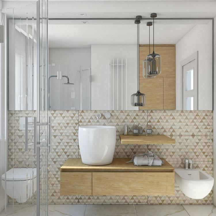 Progetto per bagno piccolo con doccia n.35