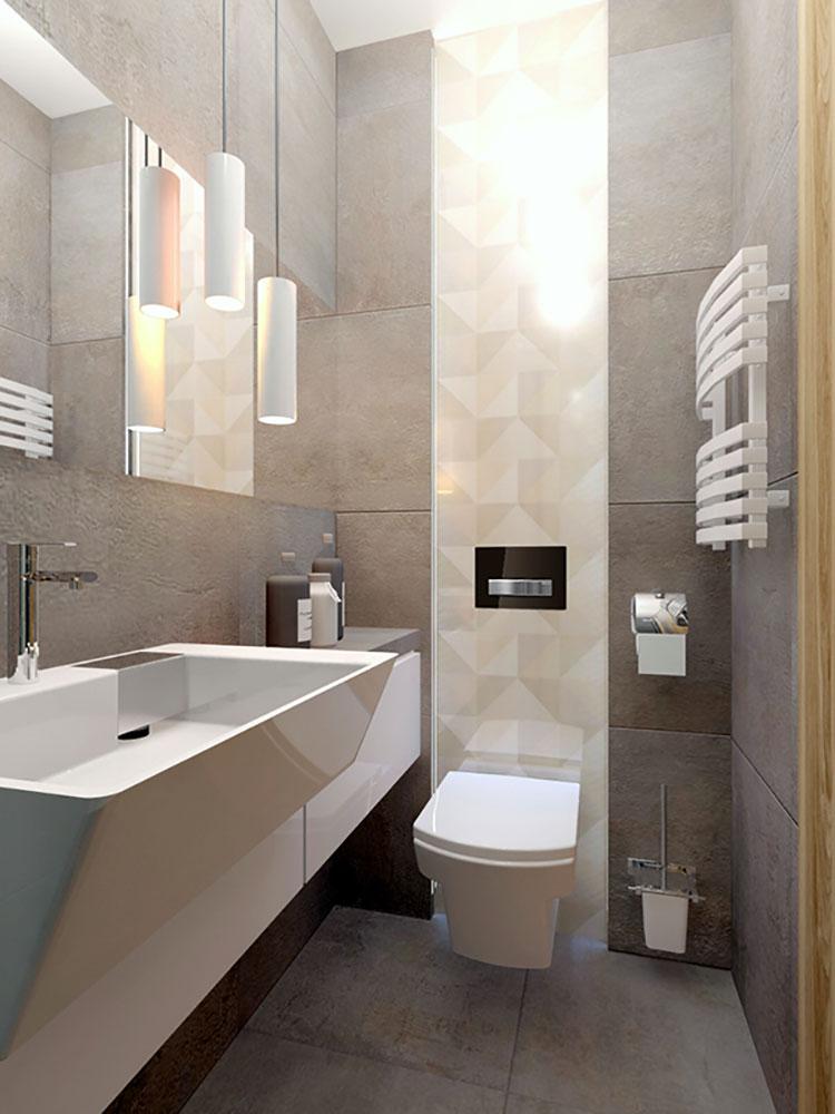 Progetto per bagno piccolo con doccia n.39