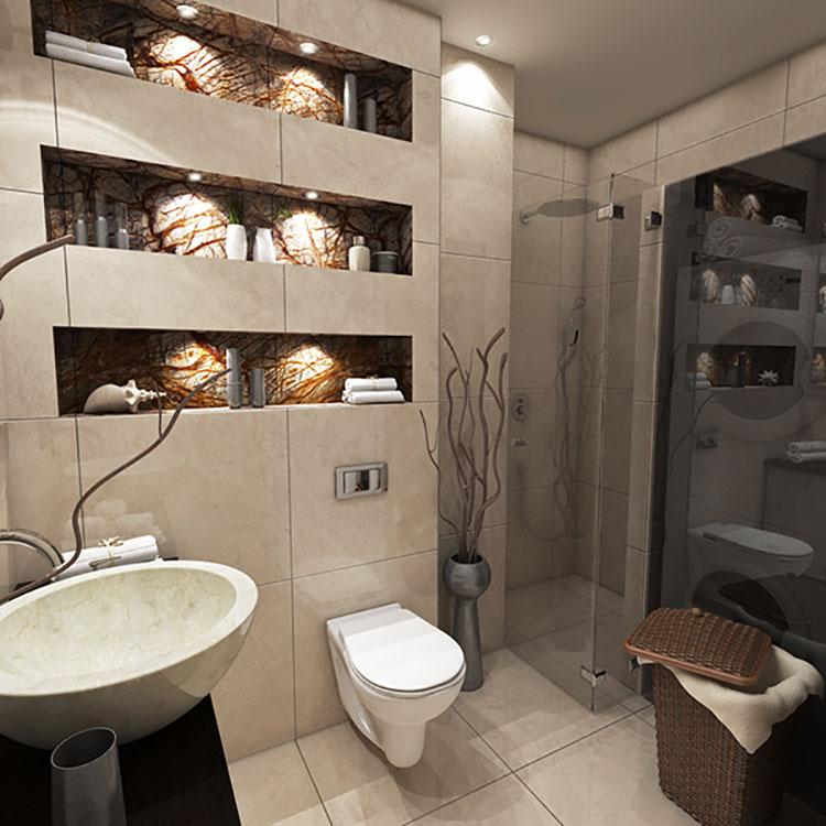 Progetto per bagno piccolo con doccia n.41