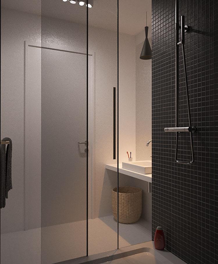 Progetto per bagno piccolo con doccia n.43