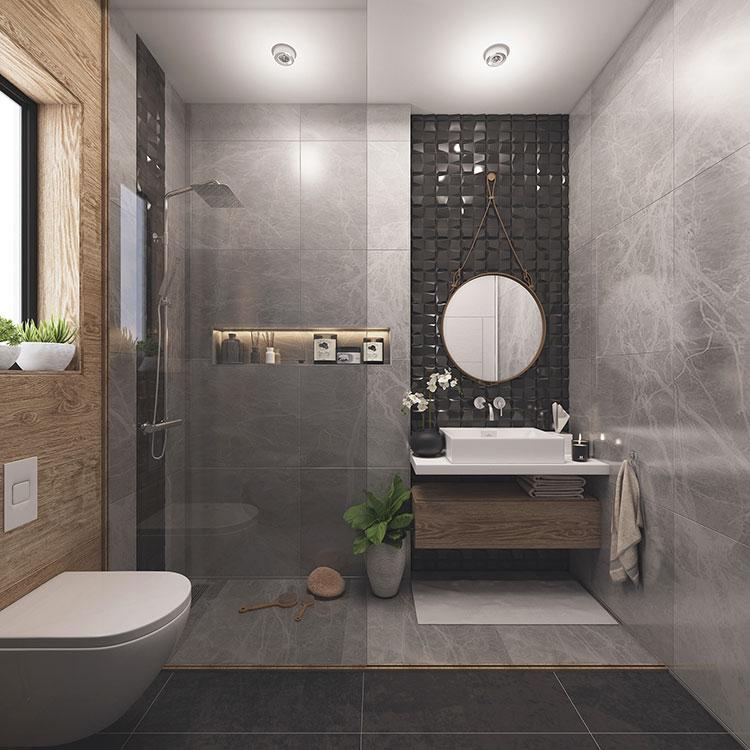 Progetto per bagno piccolo con doccia n.45