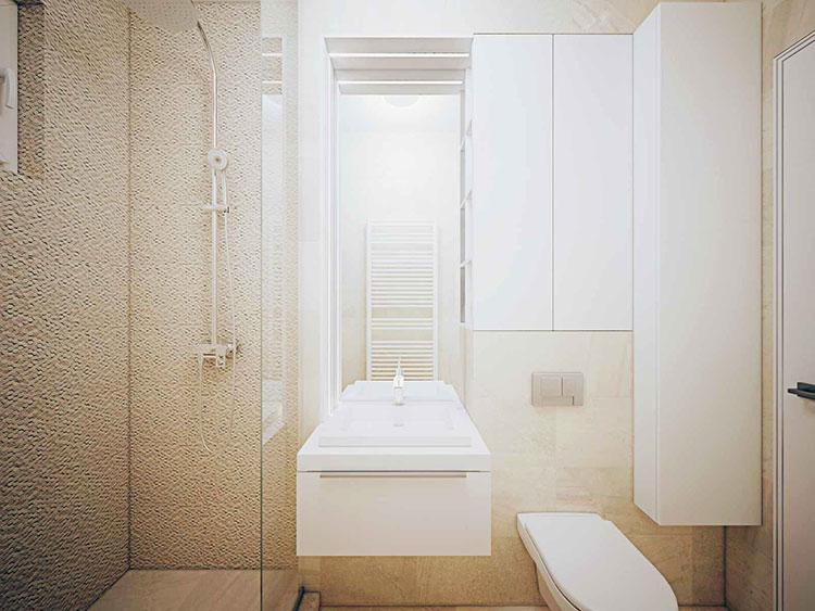 Progetto per bagno piccolo con doccia n.46