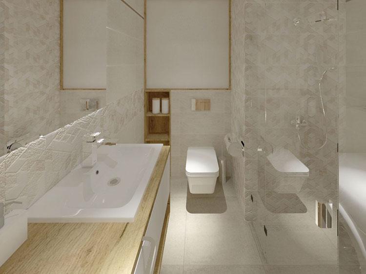 Progetto per bagno piccolo con doccia n.47