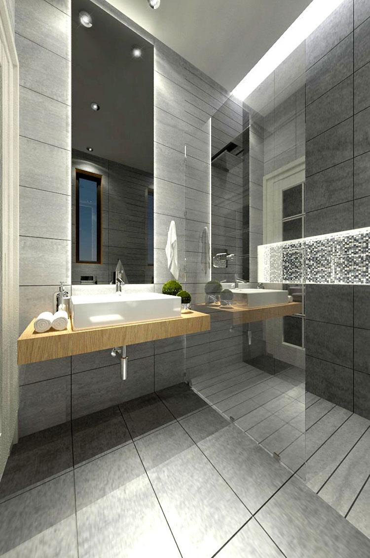 Progetto per bagno piccolo con doccia n.48