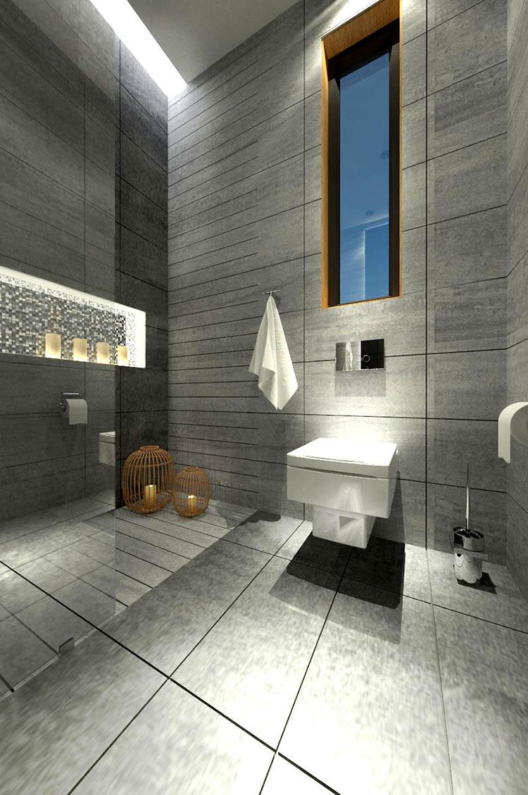 Progetto per bagno piccolo con doccia n.49
