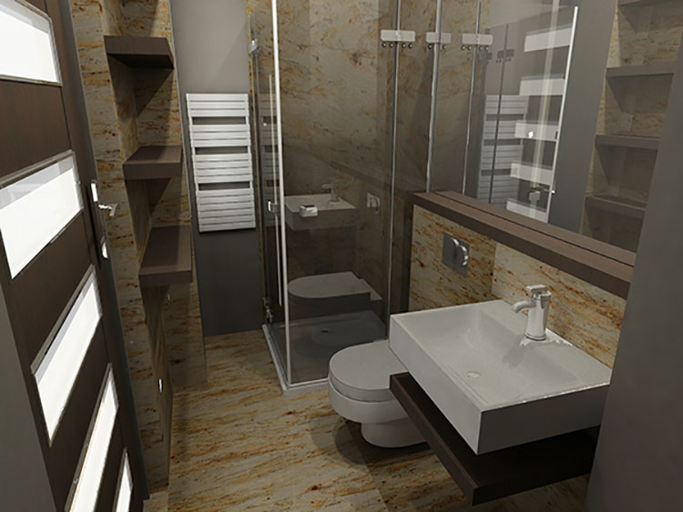 Progetto per bagno piccolo con doccia n.50