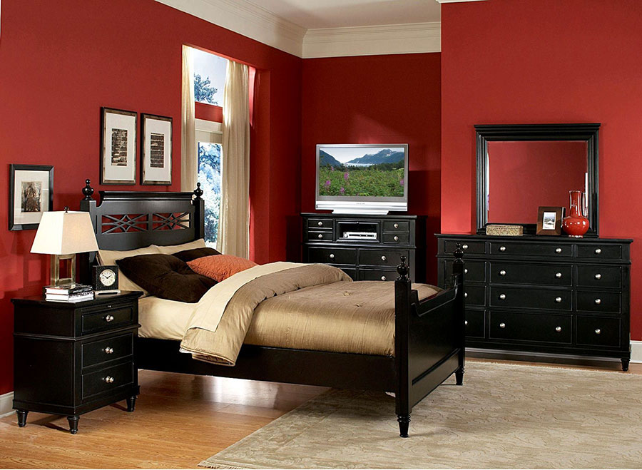Idee per arredare e decorare una camera da letto con il rosso n.03