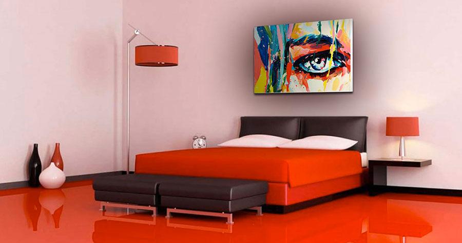 Idee per arredare e decorare una camera da letto con il rosso n.10