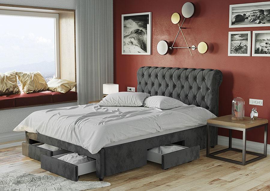 Idee per arredare e decorare una camera da letto con il rosso n.17