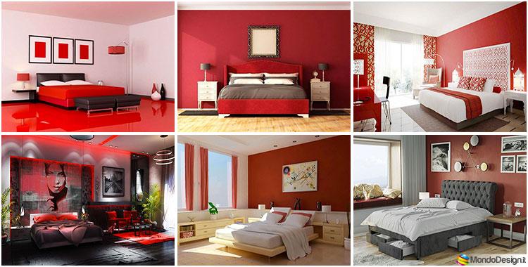 Camera da Letto Rossa: 20 Idee per Pareti, Arredi e Abbinamenti ...